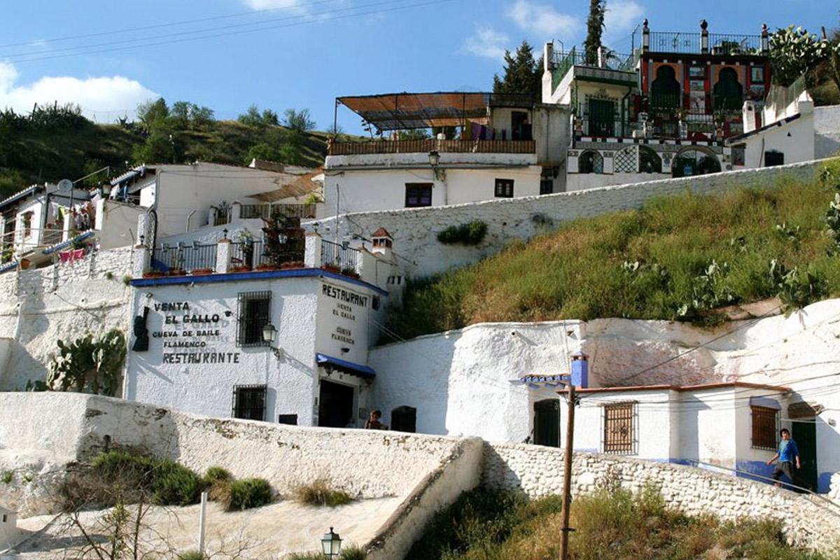 Barrio Sacromonte en Granada
